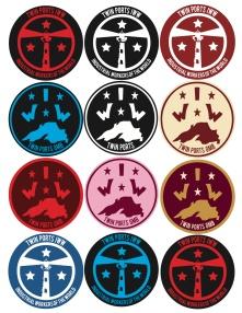 Twin Ports IWW logos stickers